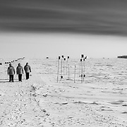 The 1 kilometer walk from IceCube to the South Pole Station