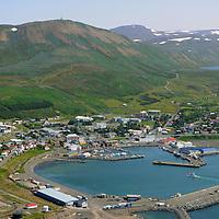 Húsavik séð til suðausturs /  Husavik viewing southeast.