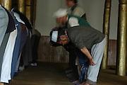 India, Ladakh region state of Jammu and Kashmir, Leh Imperial Palace, Muslims at prayer