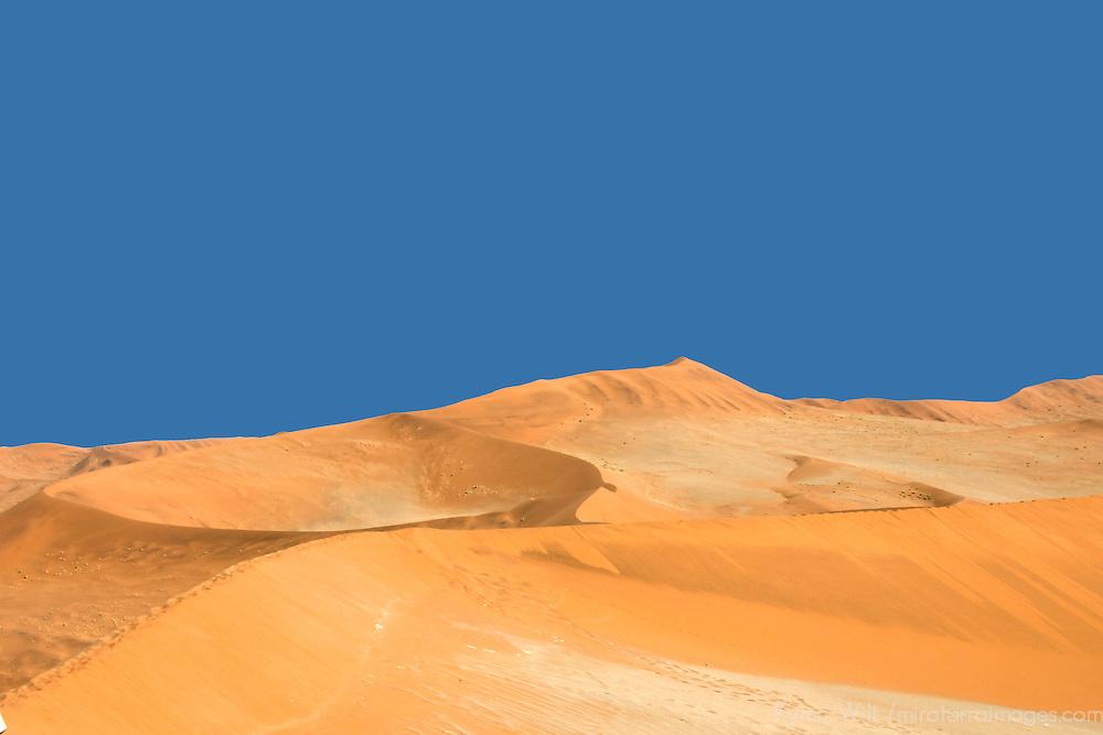 Africa, Namibia, Sossusvlei. The red dunes of Sossusvlei.