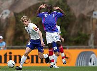 Fotball<br /> EM U21<br /> Frankrike v Serbia<br /> Foto: Dppi/Digitalsport<br /> NORWAY ONLY<br /> <br /> FOOTBALL - UNDER 21 EUROPEAN CHAMPIONSHIP 2006 - FINAL TOURNAMENT - GROUP A - FRANCE v SERBIA AND MONTENEGRO - 28/05/2006<br /> <br /> DUSAN BASTA (SER) / LASSANA DIARRA (FRA)