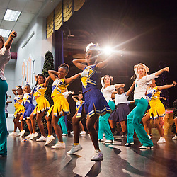 Miami Dolphins Cheerleaders Mini-Clinic at CAHS