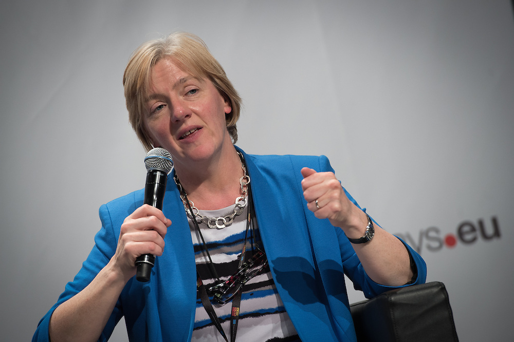 03 June 2015 - Belgium - Brussels - European Development Days - EDD - Inclusion - Social enterprise - Stemming the tide on income inequality - Linda McAvan , Chair of the Committee on Development , European Parliament © European Union
