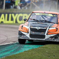 2013 FIA European Rallycross Championship, Round 1 Rallycross of Great Britain, presented by Monster Energy. 7 - Knut Ove Borseth (NOR) struggles to stay on the circuit. 31/03/2013 (c) MATT BRISTOW