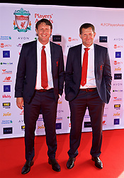 LIVERPOOL, ENGLAND - Thursday, May 10, 2018: Liverpool's first team coach Peter Krawietz and goalkeeping coach John Achterberg arrive on the red carpet for the Liverpool FC Players' Awards 2018 at Anfield. (Pic by David Rawcliffe/Propaganda)
