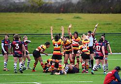 Richmond Women score a try to keep the pressure on Bristol Bears Women - Mandatory by-line: Paul Knight/JMP - 26/10/2019 - RUGBY - Shaftesbury Park - Bristol, England - Bristol Bears Women v Richmond Women - Tyrrells Premier 15s