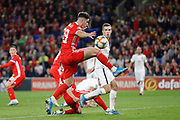 Wales forward Tom Lawrence during the UEFA European 2020 Qualifier match between Wales and Azerbaijan at the Cardiff City Stadium, Cardiff, Wales on 6 September 2019.