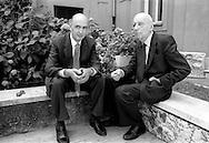 Roma 1986.Residence Ripetta.Giorgio Napolitano (Partito Comunista Italiano)  Giancarlo Pajetta (Partito Comunista Italiano).