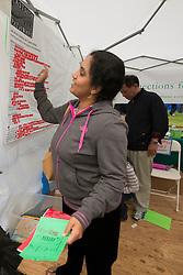 Washington, Bellevue, Eastside Pathways booth at Bellevue Strawberry Festival