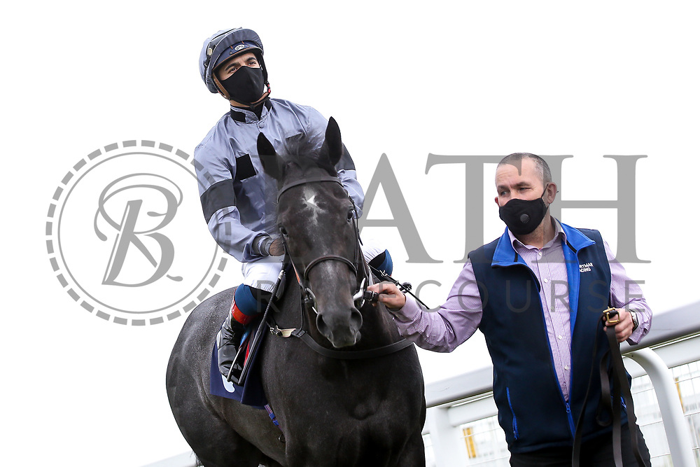 Devils Roc ridden by Gabriele Maloune and trained by Jonathan Portman - Mandatory by-line: Robbie Stephenson/JMP - 18/07/2020 - HORSE RACING- Bath Racecourse - Bath, England - Bath Races 18/07/20