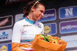 New UCI Women's WorldTour Leader, Chantal Blaak - Women's Gent Wevelgem 2016, a 115km UCI Women's WorldTour road race from Ieper to Wevelgem, on March 27th, 2016 in Flanders, Belgium.