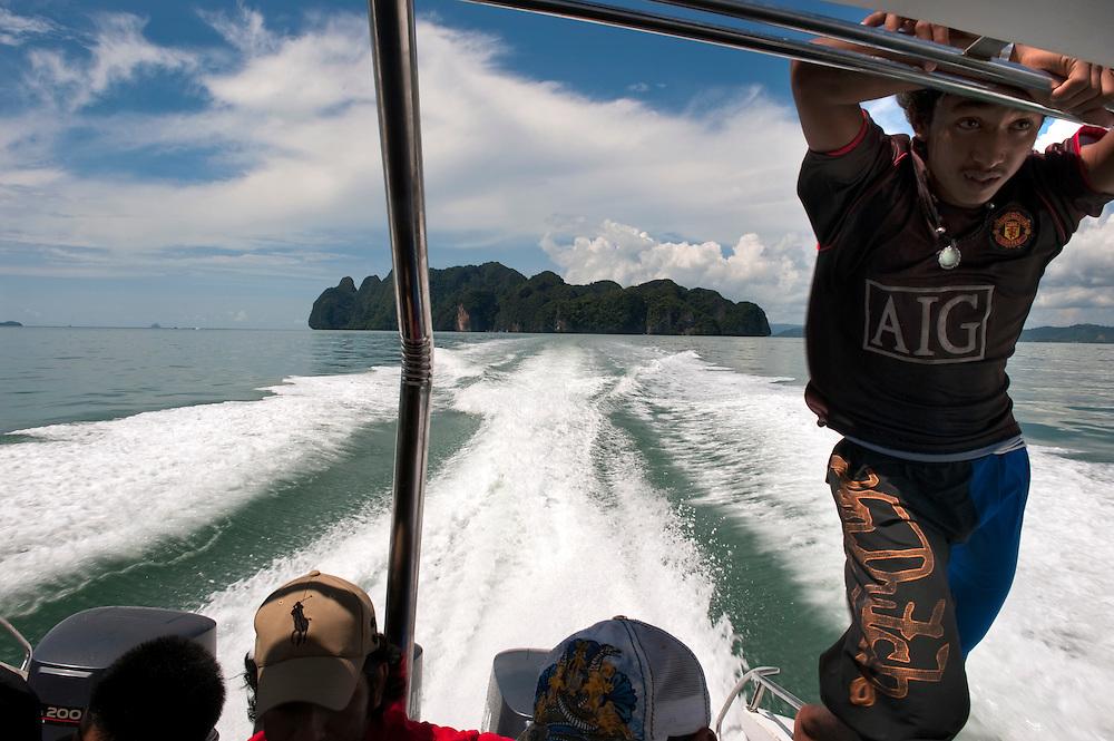 Ko Tapu and Nail Island commonly known as 'James Bond Islands', in Phang Nga Bay, Phuket, Thailand.