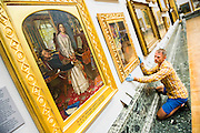 The return and re-hanging of the nation&rsquo;s Pre-Raphaelite works, including Millais&rsquo; Ophelia, to Tate Britain. They are going back on display from Thursday 7 August 2014 after being seen by over 1.1 million people worldwide. They include: John Everett Millais&rsquo; , Ophelia; Beata Beatrix by Dante Gabriel Rossetti; The Lady of Shalott by John William Waterhouse (pictured left); The Beloved by Rossetti; and Mariana by John Everett Millais. These works are being displayed in the 'grand' surroundings of the 1840 galleries as part of the BP Walk through British Art. <br /> Millbank,  London, UK.