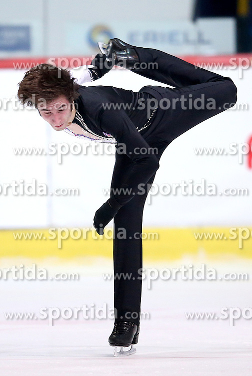 04.12.2015, Dom Sportova, Zagreb, CRO, ISU, Golden Spin of Zagreb, freies Programm, Herren, im Bild Nicholas Vrdoljak, Croatia. // during the 48th Golden Spin of Zagreb 2015 men Free Program of ISU at the Dom Sportova in Zagreb, Croatia on 2015/12/04. EXPA Pictures &copy; 2015, PhotoCredit: EXPA/ Pixsell/ Igor Kralj<br /> <br /> *****ATTENTION - for AUT, SLO, SUI, SWE, ITA, FRA only*****