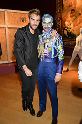 Left to right, OSCAR HUMPHRIES and ROBERT SHEFFIELD at the Tatler & Christie's Art Ball held at Christie's, 7-15 Ryder Street, London on 12th June 2014.