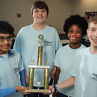 Tupelo Middle School Science Team: Architesh Prasad, Jackson Sibley, Amari Jamison and Ethan Belcher.