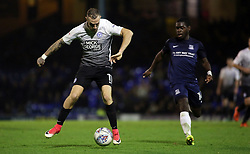 Marcus Maddison of Peterborough United controls the ball from Dru Yearwood of Southend United - Mandatory by-line: Joe Dent/JMP - 17/10/2017 - FOOTBALL - Roots Hall - Southend-on-Sea, England - Southend United v Peterborough United - Sky Bet League Two