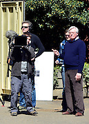 © Licensed to London News Pictures. 02/05/2013. London, UK TV presenter John Craven filming in Central London today 2nd May 2013. Photo credit : Stephen Simpson/LNP