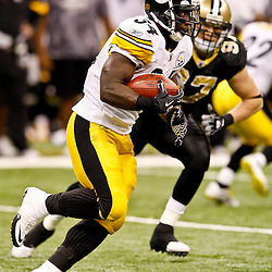 Oct 31, 2010; New Orleans, LA, USA; Pittsburgh Steelers running back Rashard Mendenhall (34) carries the ball during the second half against the Pittsburgh Steelers at the Louisiana Superdome. The Saints defeated the Steelers 20-10.  Mandatory Credit: Derick E. Hingle