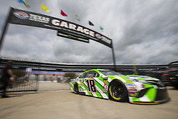 April 6, 2018 - Ft. Worth, Texas, United States of America - April 06, 2018 - Ft. Worth, Texas, USA: Kyle Busch (18) comes in from practice for the O'Reilly Auto Parts 500 at Texas Motor Speedway in Ft. Worth, Texas. (Credit Image: © Stephen A. Arce Asp Inc/ASP via ZUMA Wire)