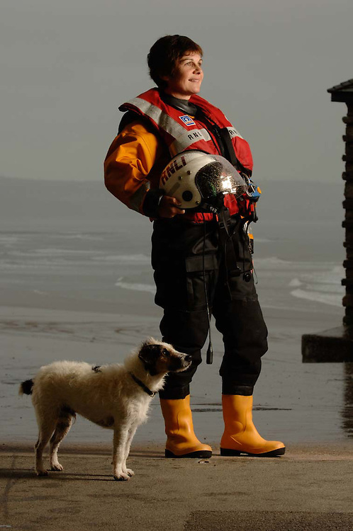 Helmsman Aileen Jones of the Porthcawl Life Boat who was awarded an R.N.L.I. bronze medal for a rescue she took part in.