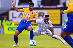 Jamille Matt of Newport County is fouled by Jacob Mellis of Mansfield Town - Mandatory by-line: Ryan Crockett/JMP - 12/05/2019 - FOOTBALL - One Call Stadium - Mansfield, England - Mansfield Town v Newport County - Sky Bet League Two Play-Off Semi-Final 2nd Leg