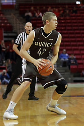 27 November 2015: Evan McGaughey. Illinois State Redbirds host the Quincy Hawks at Redbird Arena in Normal Illinois (Photo by Alan Look)