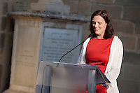 VALLETTA, MALTA - JUNE 19: EU Commissioner for Home Affairs Cecilia Malmstrom gives a speech at the EASO (European Asylum Support Office) inauguration at the Upper Barrakka Gardens in Valletta, Malta, on June 19, 2011. EASO, the European Asylum Support Office, was inaugurated by Prime Minister Lawrence Gonzi and European Home Affairs Commissioner Cecilia Malmström at the Upper Barrakka Gardens,Valletta.<br /> The EASO is a regulatory agency set up to improve the implementation of the Common European Asylum System, develop practical cooperation among member states on asylum, and support member states experiencing particular pressure on their asylum systems. Malta lobbied hard to make it the first EU agency based on its shores.