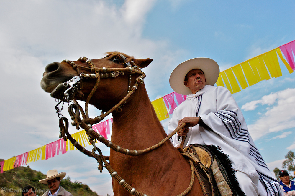 "ONE ""CHALAN"" ON HIS HORSE. CHALAN IS CALLED THE HORSE RIDER OF THE PERUVIAN PASO, A BREED OF HORSE DISTINGUISHED BY THEWAY  HOW IT WALKS., .   The Hatun Luya is a festival celebrated every september 13th, where everyone from the surrounding areas comes together. During this festivity, you can witness demonstrations of popular customs."