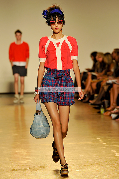 Emma Pei walks the runway wearing Marc by Marc Jacobs Spring 2010 collection during New York Mercedes-Benz fashion week on September 15, 2009.