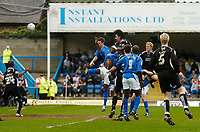 Photo: Glyn Thomas.<br />Chesterfield v Swansea City. Coca Cola League 1. 06/05/2006.<br />Swansea's Rory Fallon scores his side's second goal.