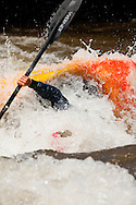 Whitewater kayakers competing at the 2010 TEVA Mtn Games in Vail, Colorado in early June.