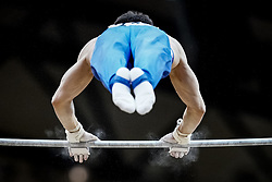 October 29, 2018 - Doha, Qatar - David Belyavskiy of  Russia   during  High Bar, Team final for Men at the Aspire Dome in Doha, Qatar, Artistic FIG Gymnastics World Championships on October 29, 2018. (Credit Image: © Ulrik Pedersen/NurPhoto via ZUMA Press)