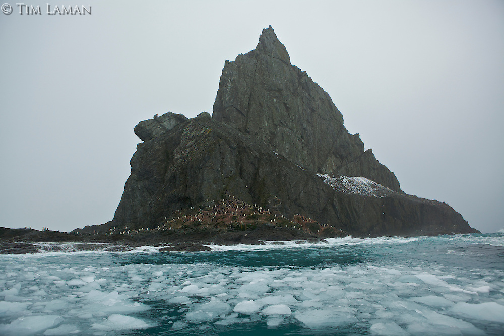 Point Wild, Elephant Island.  Pinnacle just beyond the point.