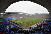 The Macron Stadium before the The FA Cup 3rd round match between Bolton Wanderers and Crystal Palace at the Macron Stadium, Bolton, England on 7 January 2017. Photo by Mark Pollitt.