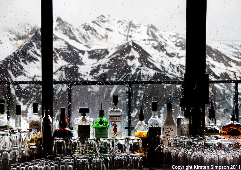 Drinks at the top of Kicking Horse