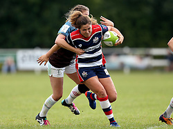 Sydney Gregson of Bristol Ladies is tackled - Mandatory by-line: Robbie Stephenson/JMP - 18/09/2016 - RUGBY - Cleve RFC - Bristol, England - Bristol Ladies Rugby v Aylesford Bulls Ladies - RFU Women's Premiership