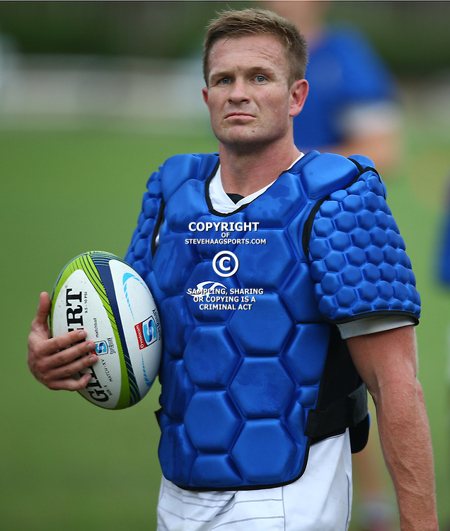 DURBAN, SOUTH AFRICA, January 2016 - Michael Claassens during The Cell C Sharks Pre Season training Tuesday 12th January 2016,for the 2016 Super Rugby Season at Growthpoint Kings Park in Durban, South Africa. (Photo by Steve Haag)<br /> images for social media must have consent from Steve Haag