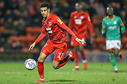 Leyton Orient midfielder Louis Dennis (17) during the EFL Sky Bet League 2 match between Leyton Orient and Scunthorpe United at the Matchroom Stadium, London, England on 16 November 2019.