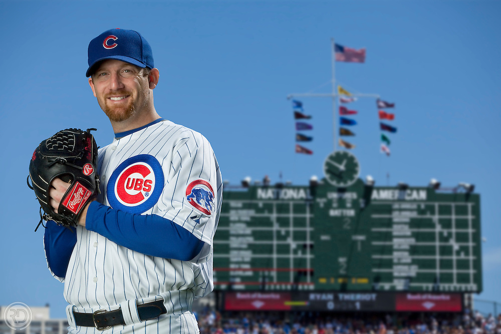 Ryan Dempster - Chicago Cubs Professional Baseball Player<br /> For Sporting News Magazine.