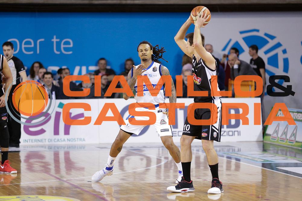 David Moss<br /> Germani Basket Brescia Leonessa - Pasta Reggia Juve Caserta<br /> Lega Basket Serie A 2016/2017<br /> Montichiari, 02/04/2017<br /> Foto Ciamillo-Castoria / M. Brondi