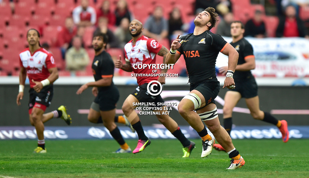 Johannesburg, SOUTH AFRICA, 21, MAY 2016 - during the Super Rugby match between Emirates Lions vs Jaguares ,Emirates Airlines Park,Johannesburg.<br /> Facundo Isa of the Jaguares. <br /> <br /> South Africa. (Photographer Christiaan Kotze ) -- (Steve Haag Sports) <br /> <br /> Images for social media must have consent from Steve Haag
