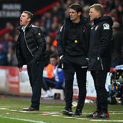 Blackpool manager Lee Clark and Bournemouth Manager, Eddie Howe - Photo mandatory by-line: Robbie Stephenson/JMP - Mobile: 07966 386802 - 14/03/2015 - SPORT - Football - Bournemouth - Dean Court - AFC Bournemouth v Blackpool - Sky Bet Championship