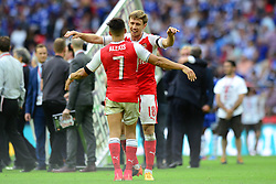 Nacho Monreal of Arsenal and Alexis Sanchez celebrate after beating Chelsea in the FA Cup Final - Mandatory by-line: Dougie Allward/JMP - 27/05/2017 - FOOTBALL - Wembley Stadium - London, England - Arsenal v Chelsea - Emirates FA Cup Final