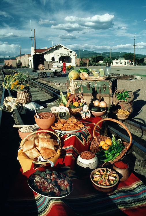 Food still life, Santa Fe, New Mexico.