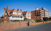 Mix of modern and Edwardian housing, Hamilton Gardens, Felixstowe, Suffolk, England