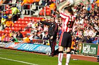 Photo: Alan Crowhurst.<br />Southampton v Cardiff City. Coca Cola Championship. 01/04/2006. Saints coach George Burley gives the orders.