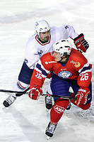 ICE HOCKEY - FRIENDLY GAME - FRANCE V NORWAY - LYON (FRA) - 11/11/2011 - PHOTO : EDDY LEMAISTRE / DPPI -  DAMIEN FLEURY  (FRA) AND KRISTIAN FORSBERG  (NOR)