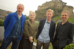 2016 Edinburgh International Film Festival, (left to right) Paul Welsh (Producer) Nicky Grogan (producer), Niall McCann (Director), Alex Kapranos (Franz Ferdinand), WORLD PREMIERE (DOCUMENTARY) LOST IN FRANCE, The Apex Hotel Grassmarket, Edinburgh16th June 2016, (c) Brian Anderson | Edinburgh Elite media