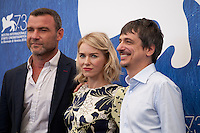 Liev Schreiber, Naomi Watts and director Philippe Falardeau at The Bleeder film photocall at the 73rd Venice Film Festival, Sala Grande on Friday September 2nd 2016, Venice Lido, Italy.